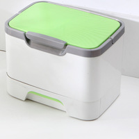 1PC Fashion Makeup Box Suitcase Cosmetic Storage Box Multifunctional Storage Box Household Medicine Kits Container OK 0559