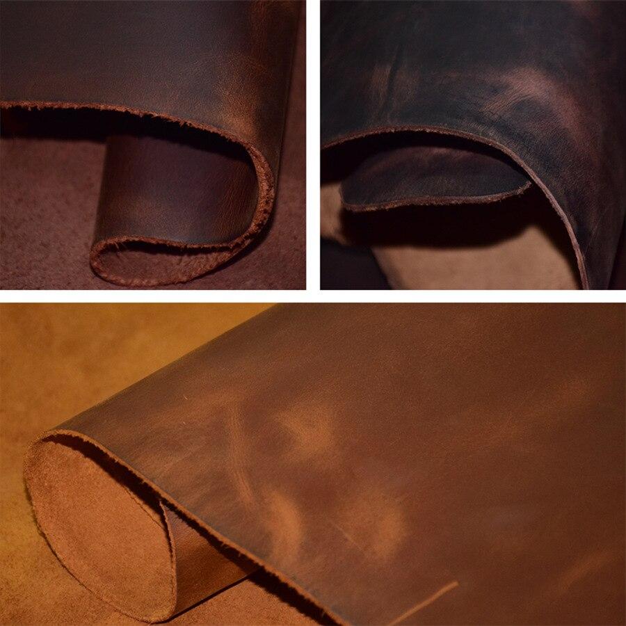 Зерно Crazy Подкова изменение цвета воска выскабливание голова слой кожи окружающей среды Европейский стандарт DIY Пояса из натуральной кожи