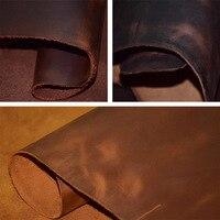 Grain crazy horseshoe wax color change scraping head layer leather environmental European standard DIY Genuine Leather
