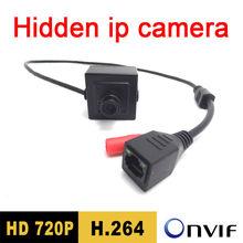 купить Free shipping Mini ip camera hidden 720P small Pinhole hd video cctv onvif megapixel Security system door Surveillance black по цене 1520.16 рублей