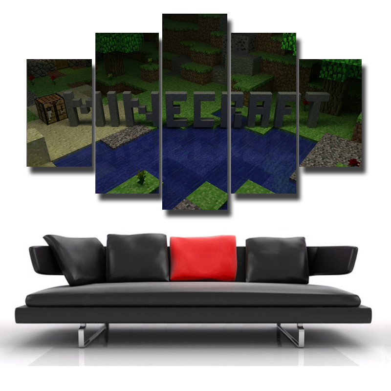 5P Oil Paintings Print Canvas Living Room Decoration HD Poster Picture Art Wall Modern Theme