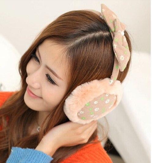 2018 Lady  Loveliness Bowknot Ear Warmers Male Female Earmuffs Fur Earmuffs Earlap Ear Cover Ear Muffs Orejeras Winter