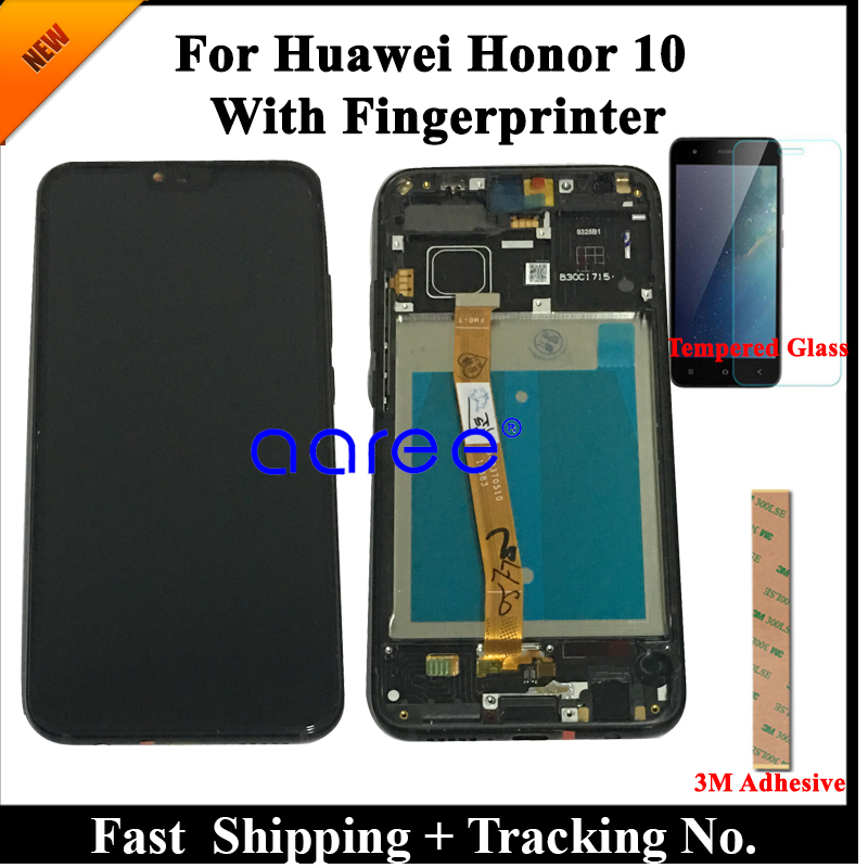 Tested Original LCD Display For Honor 10 LCD For Honor10 LCD For Huawei Honor 10 Display