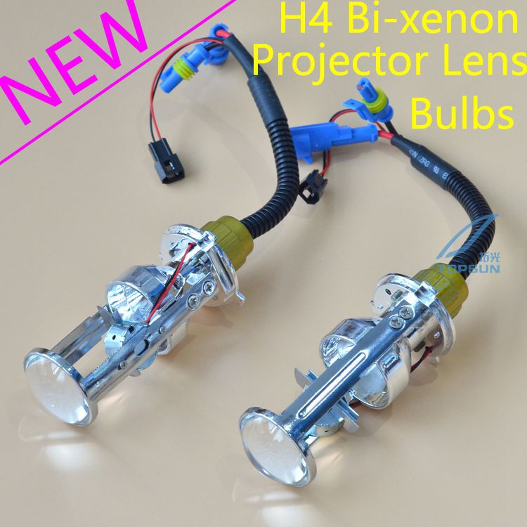 ФОТО GZTOPHID New Upgrades 35W 12V AC Car Light H4 Bi-xenon Projector Lens Bulbs High / Low Beam Light HID Headlight Bulbs