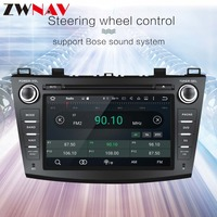 2 din 8android 8.0 CAR GPS Radio for Mazda 3 2009 20113 autoradio head unit car multimedia player with dvd player Octa 8 core