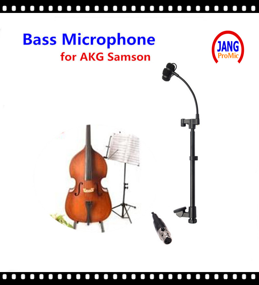 Professional Lapel Music Instrument Double Bass Microphone Condenser Mikrofon for AKG Samson Wireless System  XLR 3Pin Microfone
