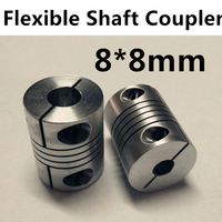 Wholesale 8mm X 8mm D20 L25 CNC Stepper Motor Shaft Coupler Flexible Coupling 8x8mm Motor Connector