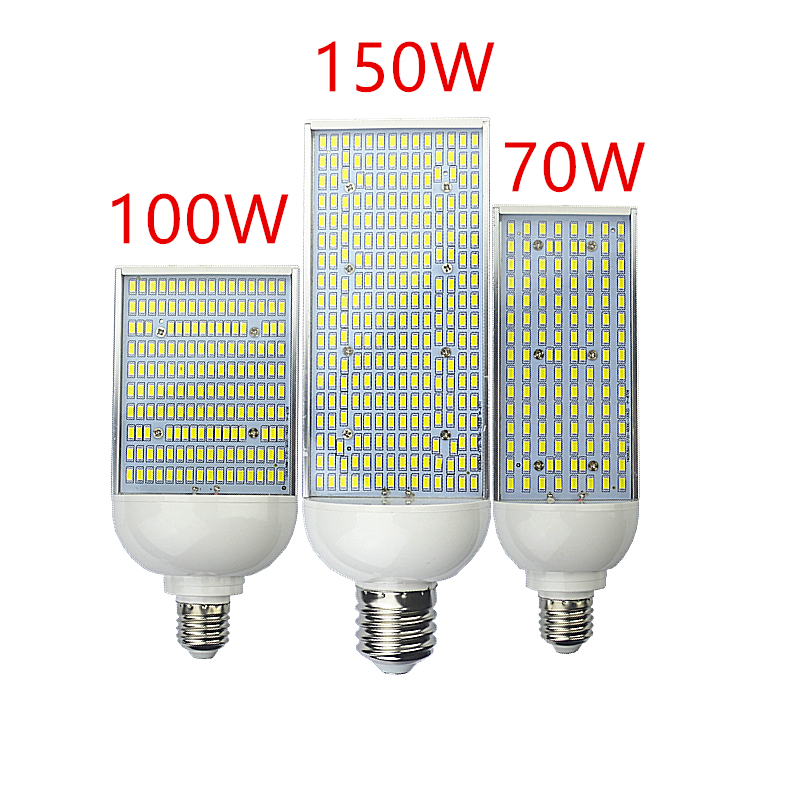 купить Lampada 70W 100W 150W LED corn Bulbs E26 E27 E39 E40 street Lamp Cold Warm White high bay Lighting outside parking Poles Lights недорого