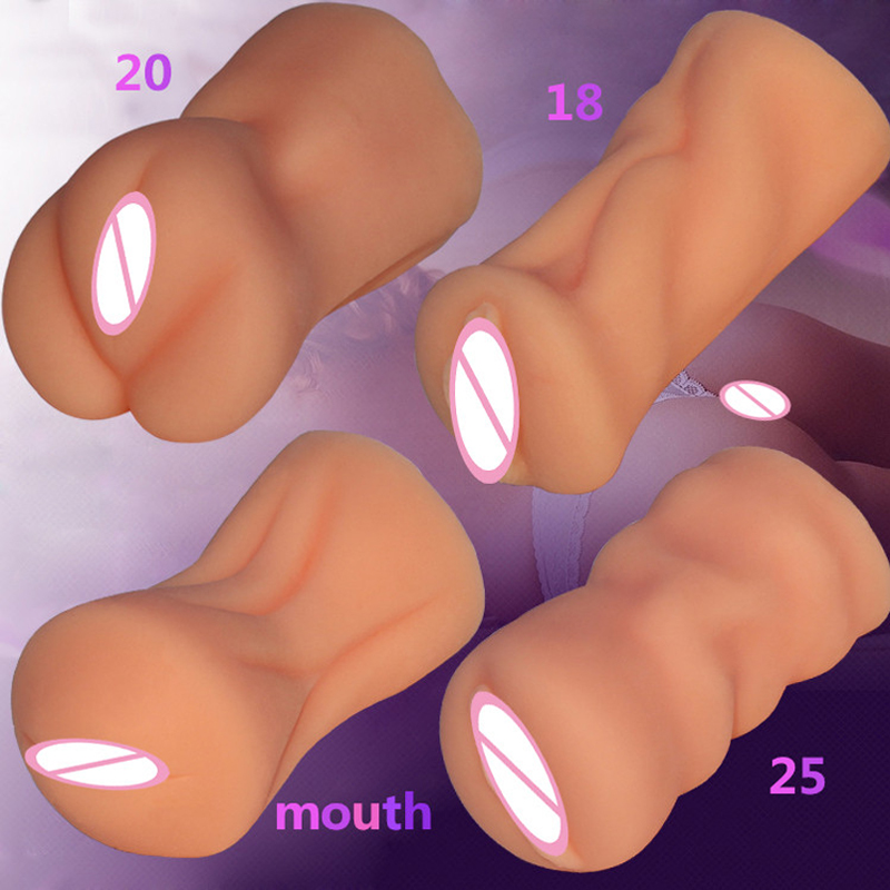 New silicone virgin vagina artificial rubber pocket <font><b>pussy</b></font> mouth <font><b>sextoy</b></font> male masturbator japan adult sex toys for men sexy shop image