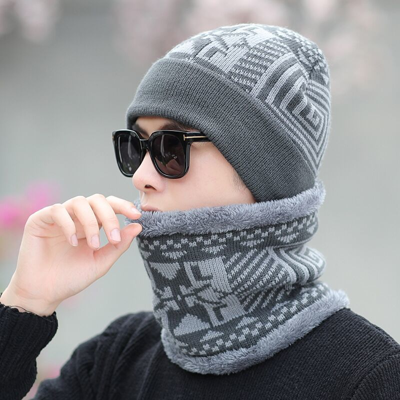 Neck warmer winter hat mask cap Balaclava scarf cap Winter wool Hats For men knitted hat men   Beanie   Knit Hat   Skullies     Beanies