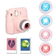 4 adet renkli yakın çekim Lens filtre seti Fujifilm Instax Mini 7 S/8/8 + Film kamera