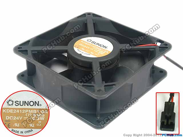 Free Shipping For  SUNON KDE2412PMB1-6A, (7).B305.GN DC 24V 10.3W 2-wire 2-pin 40mm 120x120x38mm Server Square Cooling Fan free shipping for sunon gb1207ptv2 a 13 b4396 f gn dc 12v 2 2w 3 wire 3 pin connector 70mm 70x70x25mm server square cooling fan