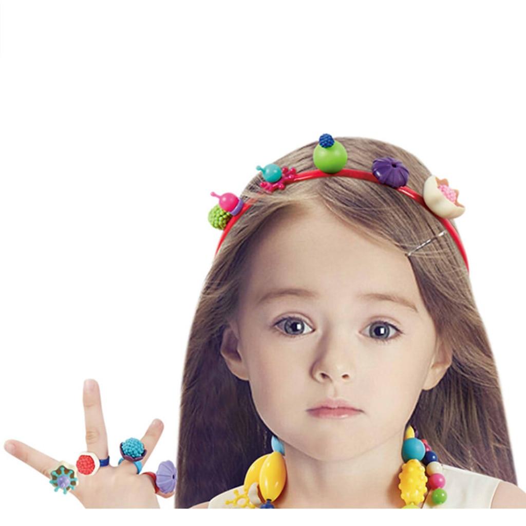 660 PCS Girls Pop Beads Toys for DIY Jewelry Making Kit - Necklace, Bracelet, Ring, Hairband Earrings- Art Craft Kits Girls Gift