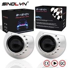 Sinolyn Headlight Lenses For BMW E46 M3 Tuning Accessories 330i 320i 318i 323i 325Ci Coupe Wagon/Sedan H7 Projector Bi xenon DIY