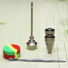 (Factory Directly Selling) Dome less Titanium Nail Universal Carb Cap with Dabber set