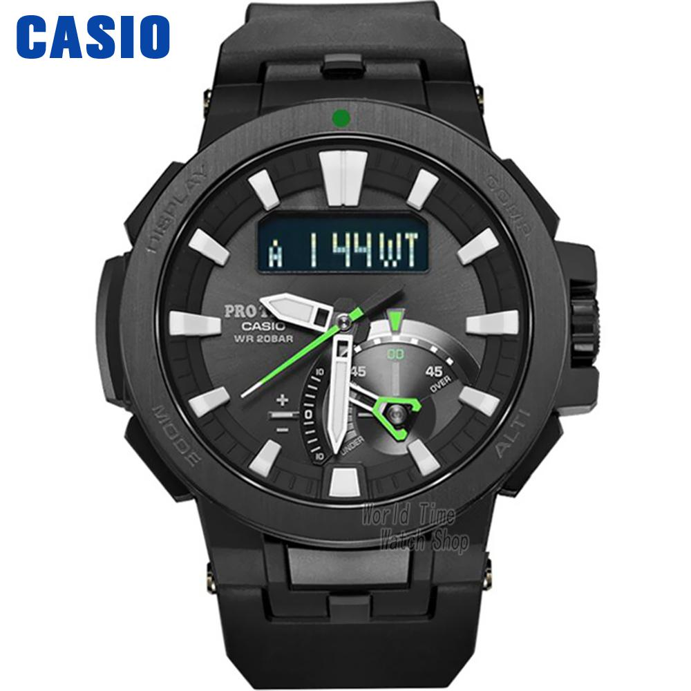 Casio watch Six Board radio solar energy multi - sensor waterproof climbing table PRW-7000-1A PRW-7000-1B PRW-7000FC-1P кварцевые часы casio sport prw 6000y 1a black