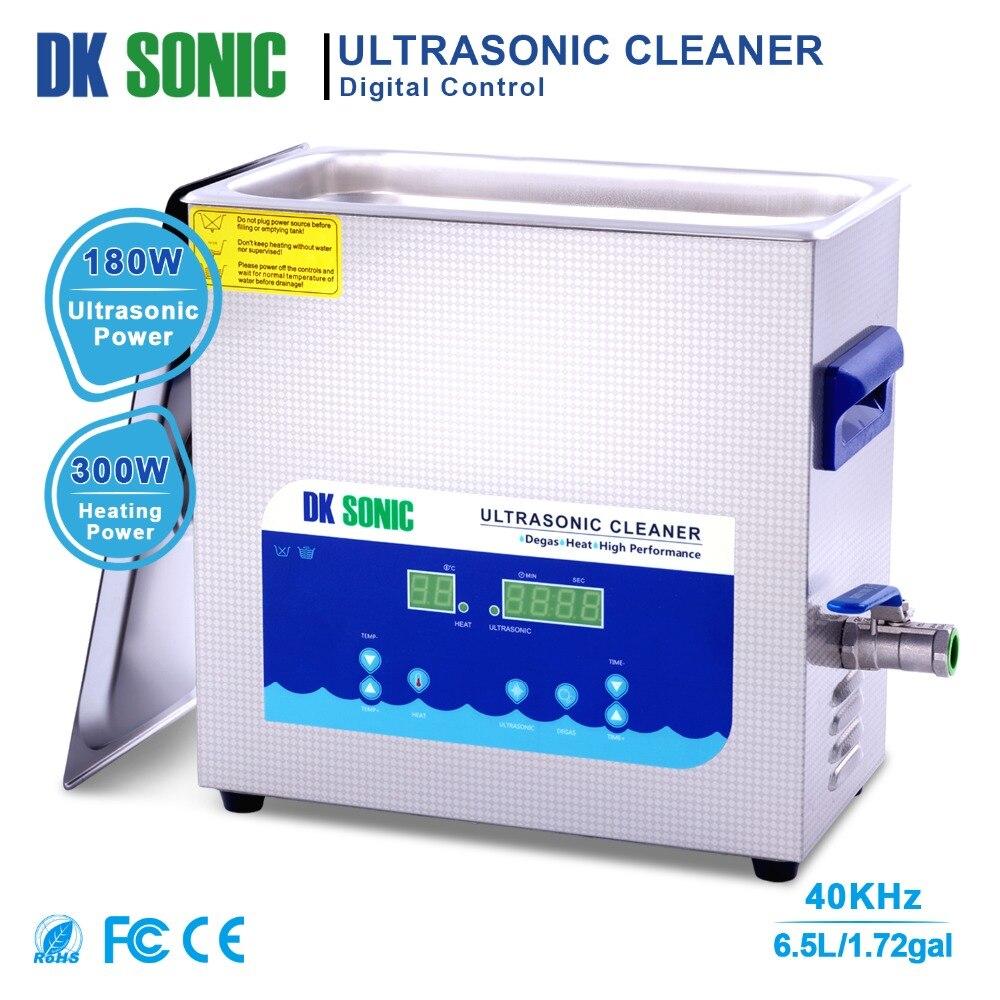 DK 6.5L Ultra sonic sonic Jóias Cleaner Ultrasound Cesta de Banho com Temporizador e Aquecedor para Correntes de Relógio Dentadura Óculos de Auto Peças