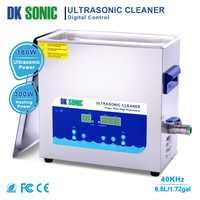 DK sonic 6.5L Ultra sonique bijoux nettoyant bain avec minuterie chauffage panier ultrasons pour prothèse dentaire montre chaînes lunettes Auto pièces
