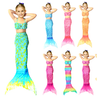 Summer Girls Dress The Little Mermaid Tail Princess Ariel Dress Cosplay Beach Swimsuit Costume For Girl