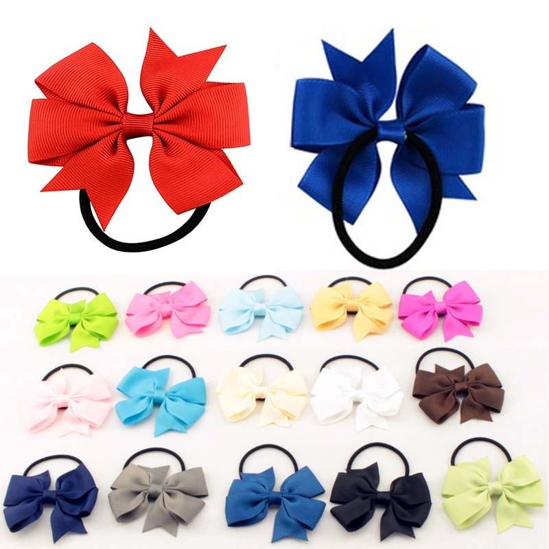 Rope Hair-Headband Headwear Holder Ponytail Elastic Girl Sale Satin 1PC Bowknot Ribbon