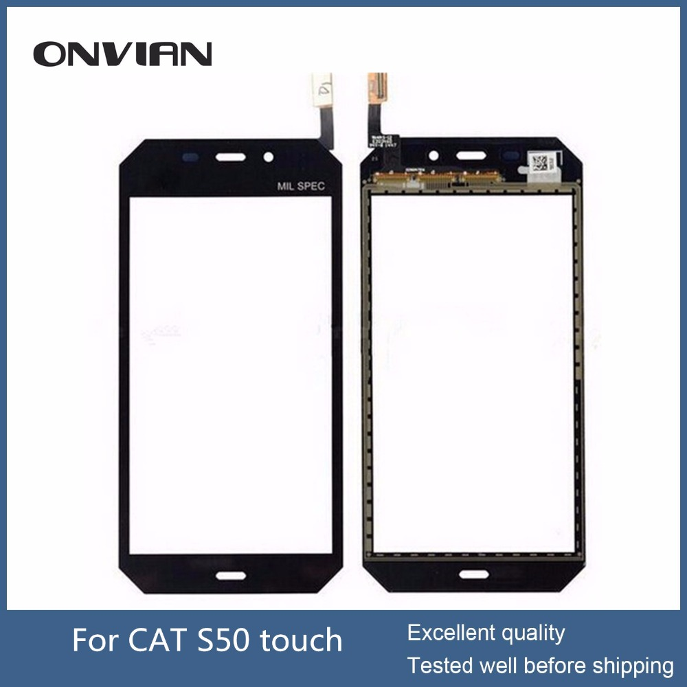 CAT S50 Touch Screen Glass Digitizer Panel Replacement 4.5 Digitizer Glass Panel Len panel with Protective film Glass