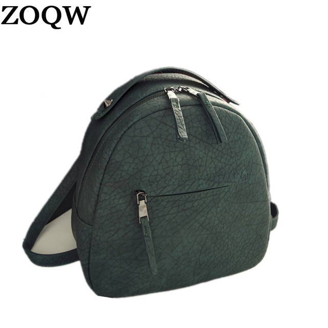 f5213addde9 US $18.11 49% OFF|ZOQW Fashion 2018 Hot Sales Women's Bag Backpack Casual  PU Leather Backpack Female School Backpacks For Teenagers Girls JF0016-in  ...