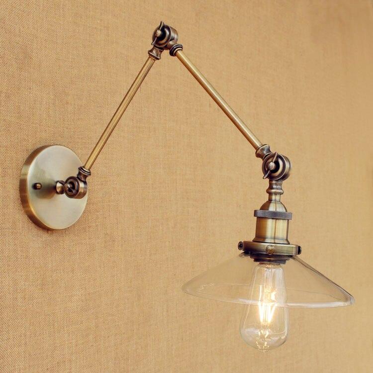 adjustable lighting fixtures. Sconces Loft Retro Vintage Wall Lights Fixtures Adjustable Swing Long Arm Light Edison Industrial Lamp Appliques Murales-in Lamps From Lighting S
