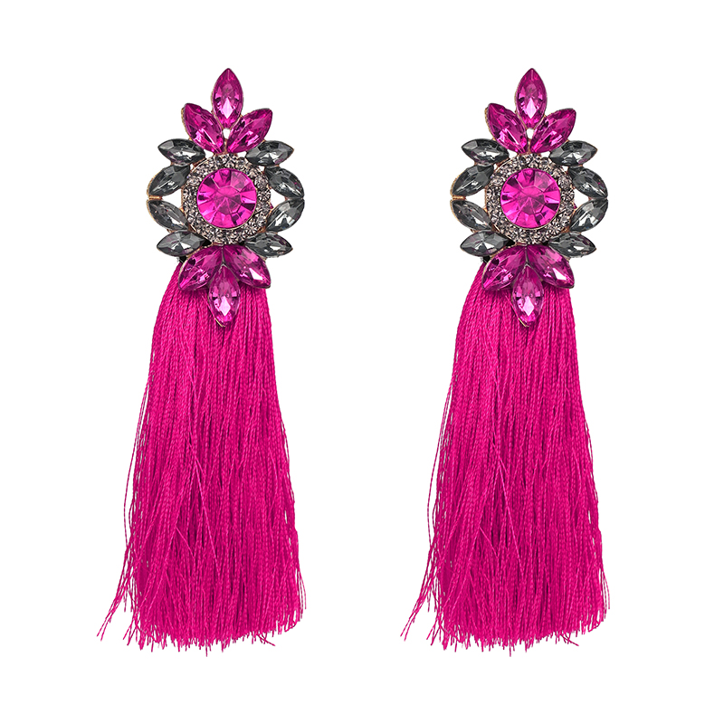 2018 Hot 9 Colors Long Tel Earrings For Women Crystal Drop Wedding Fashion Statement Jewelry Whole 30