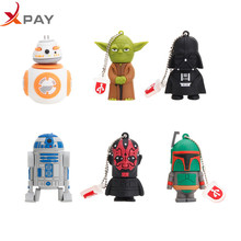 Hot sale 2 0 Star wars usb flash drive 32GB Cartoon Silicone 128GB pendrive 4GB 8GB