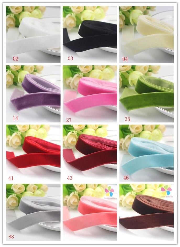 Lucia ремесла 20 мм разные варианты бархатная лента для упаковки и украшения 2y/3y 040003005002