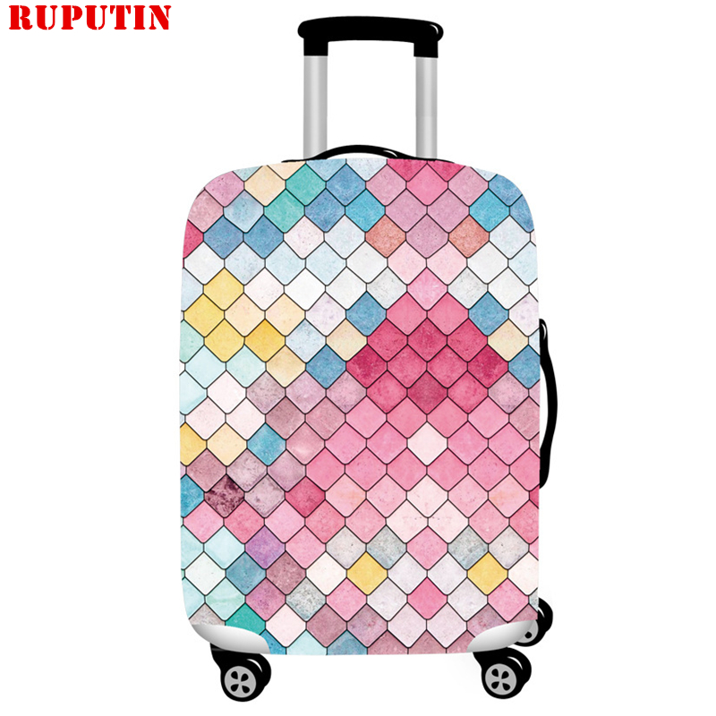 RUPUTIN Thicker 3D Travel Suitcase Protective Cover Luggage Case Elastic Luggage Dust Cover Apply To 18~32 Password Box Covers