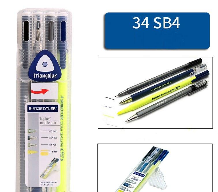 MICRO STAEDTLER ® TRIPLUS SET 431 BALL FINELINER ERASER -or- Ballpoint Pen