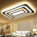 Rectangle Dimming Ceiling Lights For Living Study Room Bedroom lamparas de techo 85-265V Square Modern Led Ceiling Lamp Fixtures