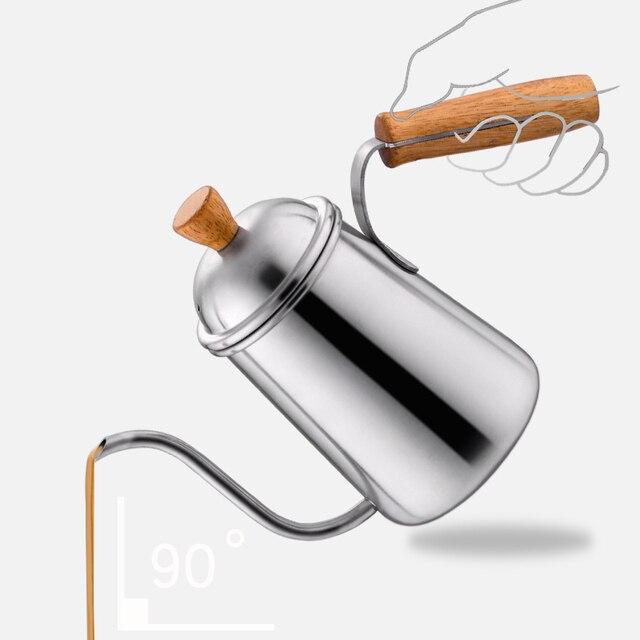 650 ml Edelstahl Schwanenhals Kaffee Tropf Wasserkocher Heizung ...