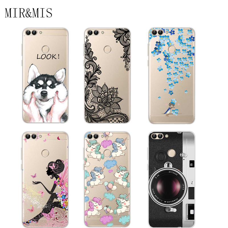Case For Huawei P S Smart 5.65 Inch Transparent Printing Drawing Silicone Phone Cases Co ...