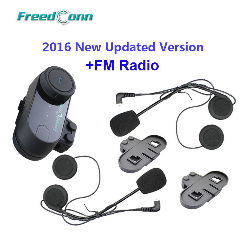 Freies Verschiffen! Halterung äSthetisches Aussehen Extra Ohrhörer Original Freedconn Marke Bt Sprech Bluetooth Motorrad Helm Intercom Mit Fm Radio