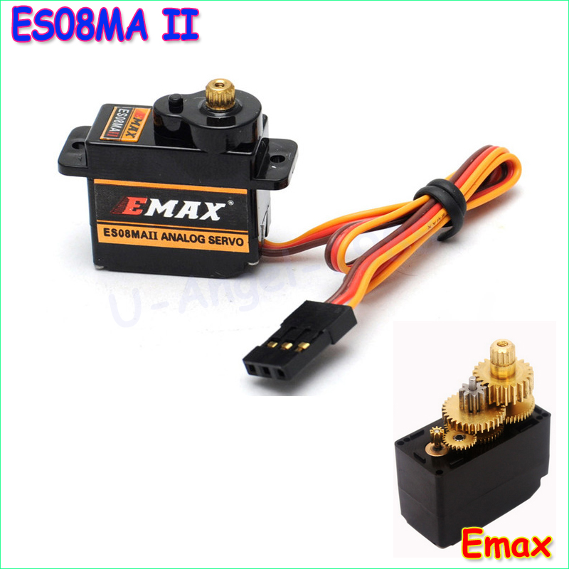 100 orginal 1pcs emax es08maii 12g mini metal gear for 100 kg servo motor