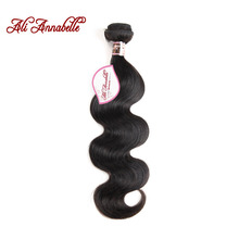 ALI ANNABELLE HAIR Peruvian Body Wave Human Hair Bundles Natural Color 10″ to 28″ inch 100% Remy Hair Extensions