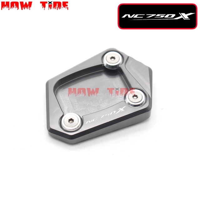 CNC Billet Aluminum Kickstand Foot Plate Side Stand Extension Pad Enlarge Extension For HONDA NC 750 X NC750X NC 750X 2012-2013