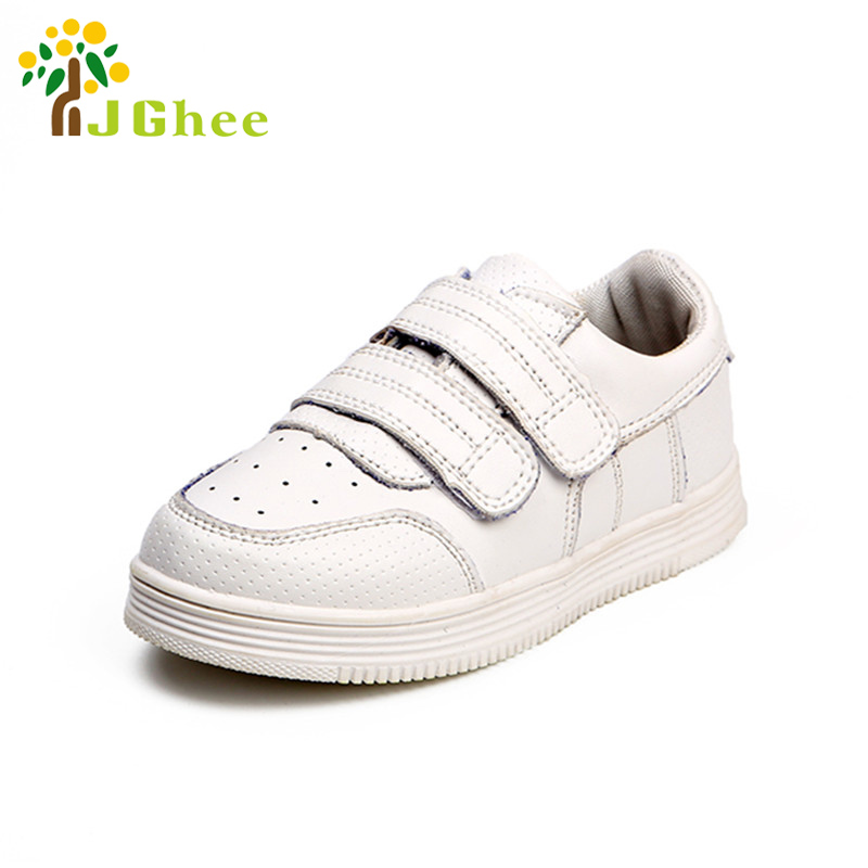 2017 Boys Girls Shoes Unisex Children Casual Sneakers Fashion Kids Sports Running Rubber Shoes White Black Size 26-36