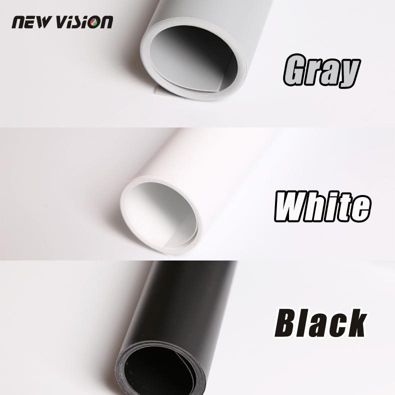 Prix pour Livraison Gratuite Noir Gris Blanc PVC Photo Photographie Éclairage de Studio Toile de Fond Fond Tissu 68 cm * 130 cm trois sortes de couleur