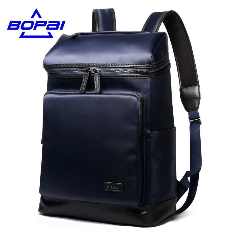 ФОТО BOPAI Big Capacity 15.6 Inch Laptop Backpack Computer Bags Stylish Waterproof Men Backpack Weekend Travel mens rucksacks mochila