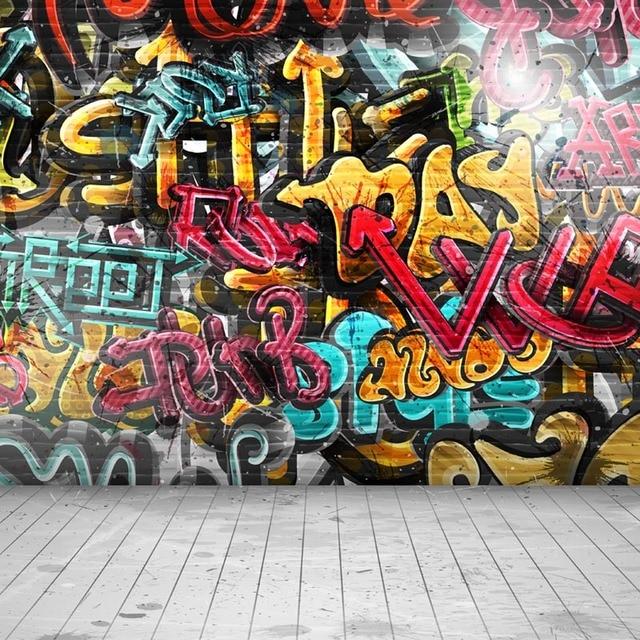 Graffiti wall thin vinyl photo backdrops kids photography background 10x10ft f 2156 in - Graffiti zimmerwand ...