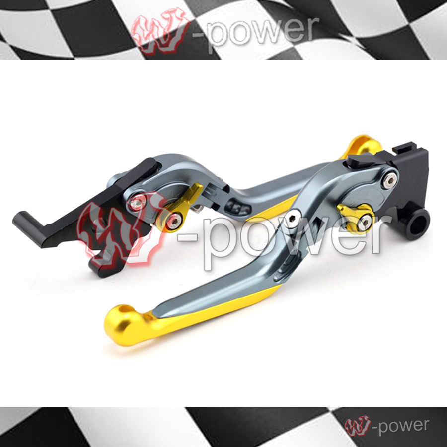 ФОТО For yamaha yzf-r25 yzf-r3 mt-25 mt-03 2015-2016 motorcycle adjustable folding retractable brake clutch lever gold + titanium