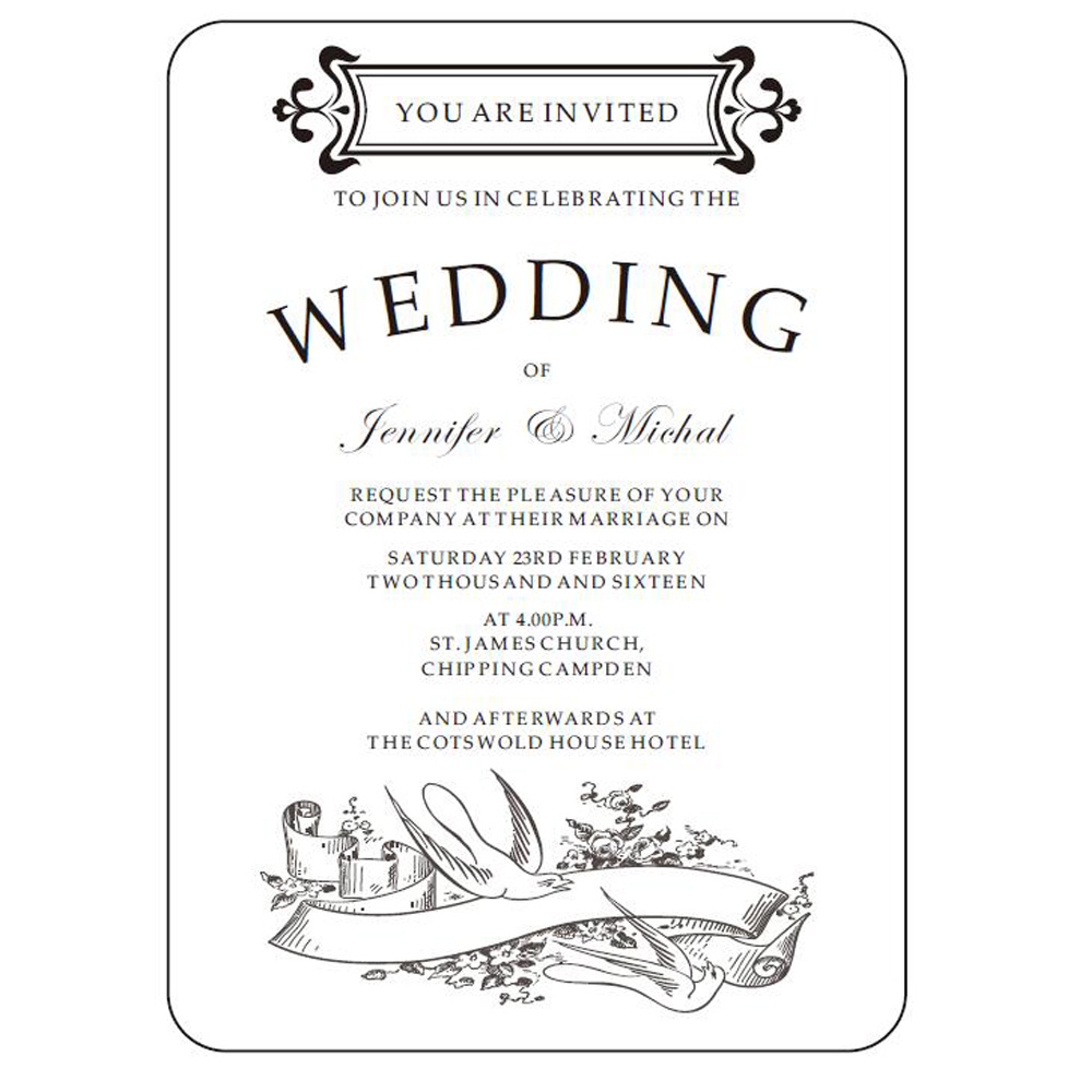 Popular Wedding Invitation Letter-Buy Cheap Wedding Invitation ...
