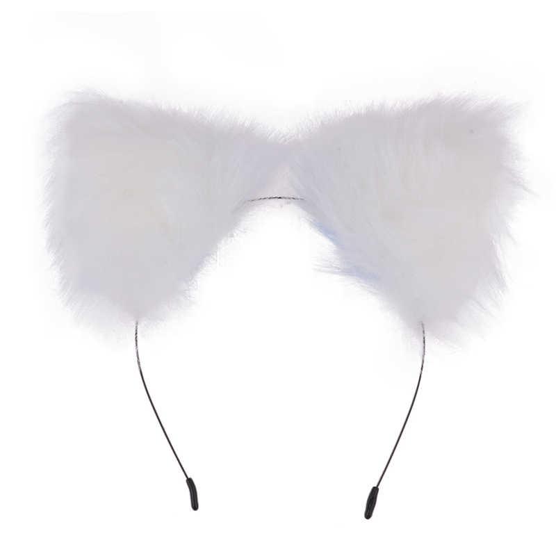 น่ารักแมวหู Headbands กับ Fox Tail Bow โลหะก้น Anal Plug เร้าอารมณ์ Cosplay อุปกรณ์เสริมของเล่นสำหรับผู้ใหญ่คู่