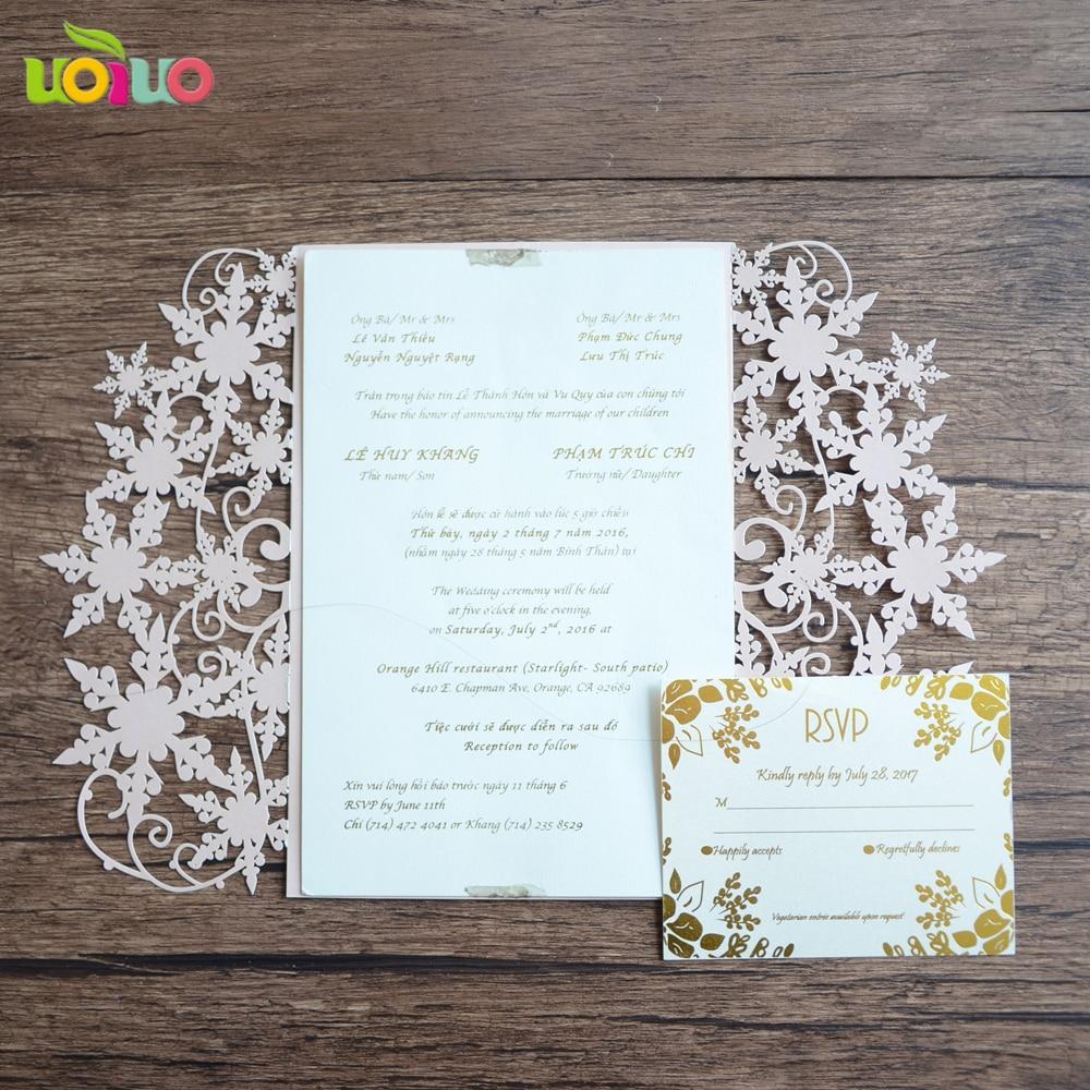 Unique Elegant Wedding Invitations: Unique Elegant Snowflake Christmas Wedding Invitation Card