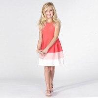 2015 Big Baby Girls Cotton Ombre Dresses Kids Girl Summer Ruffle TuTu Fashion Dress Children S