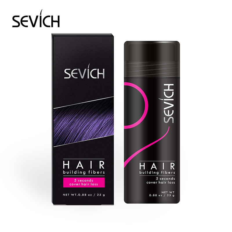 Applicator Spray Hair Thickening Fibers Keratin Hair Styling Powder SEVICH Hair Fiber Wig Extension 25g 10 Colors