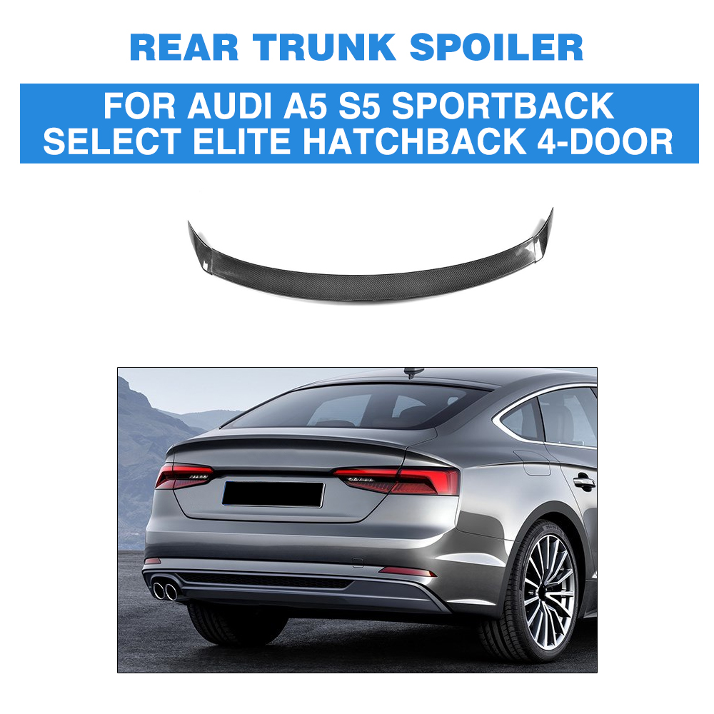 Carbon Fiber Rear Trunk Spoiler Wing For Audi A5 S5